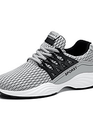 Running Shoes Men's Athletic Shoes Spring Summer Comfort Light Soles Tulle Outdoor Casual Athletic  Flat Heel Gore Black Gray Blue