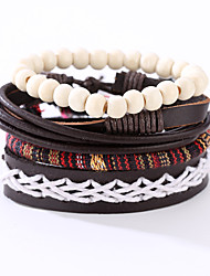 Men's Leather Bracelet Costume Jewelry Vintage Punk Leather Resin Round Jewelry For Anniversary Birthday Gift Sports Valentine Christmas