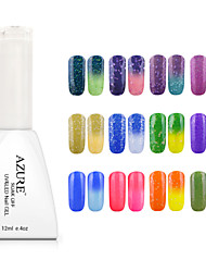 cheap -Azure Soak off UV Gel Nail Polish Color Changing with Temperature 25#-36#(12ml,48 Colors)