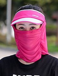 Women 's Summer Outdoor Sunscreen Veil Cover Face Mask Anti-ultraviolet Empty Top Ride Sun Hat