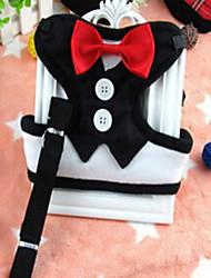 baratos -Gato Cachorro Arreios Trelas Retratável Respirável Segurança Treinamento Corrida Laço Tecido Preto