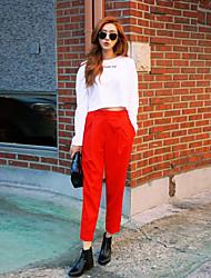 brillante pantaloni casuali del modo di colore solido Corea stylenanda pantaloni casual harem pants gancio femminile