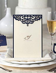 Flat Card Wedding Invitations 50-Save The Date Cards Envelope Envelope Sticker Program Fan Wedding Menu Invitation Cards Thank You Cards