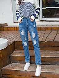 firmano nuovi modelli primavera bf era sottile collant jeans del foro harem pants pantaloni mendicante casuali