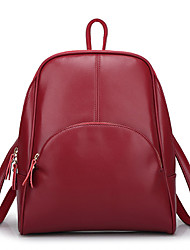 cheap -Women's Bags Cowhide Backpack for Casual Outdoor All Seasons Blue Black Fuchsia Brown Wine