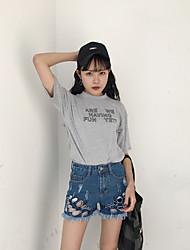 Sign wild tassel 2017 new straight jeans hole denim shorts female shorts
