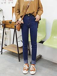 versione coreana primavera segno di sottile era sottile frangia di lana pantaloni denim stretch frange piedi pantaloni femminili