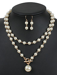 cheap -Women's Jewelry Set Pearl Black Pearl Gold Pearl Gray Pearl Others Euramerican Wedding Party Special Occasion Congratulations Business