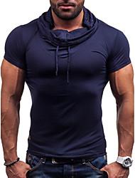 economico -T-shirt Per uomo Moda città Tinta unita
