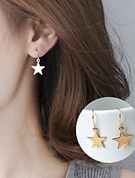 cheap -Women's Star Drop Earrings - Basic Cute Style Gold Silver Geometric Star Earrings For Party Daily Casual
