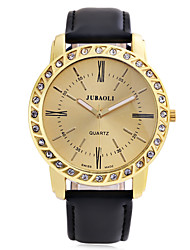 cheap -JUBAOLI Men's Fashion Watch Casual Watch Quartz Leather Band Black