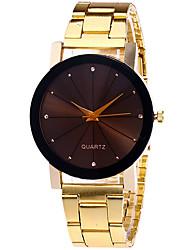 Damen Modeuhr Armbanduhr Quartz Legierung Band Cool Bequem Silber Gold Rotgold Gold Silber Rotgold