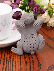 1PC Cute Sloth Infuser Silicone Tea Strainer  Brew Coffee Maker Manual(Random Color)