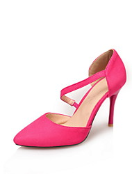 Women's Heels Spring Summer Comfort Leatherette Dress Casual Stiletto Heel Buckle Walking