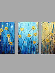 Hand-painted Oil Paintings Flower Flowing Lines Wall Art Stretched Frame Ready To Hang