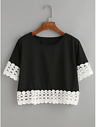 ebay Europe and the new women's lace backing Shanshan short paragraph loose T-shirt