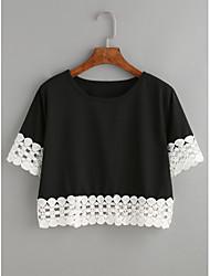 ebay Europa e le nuove donne&# 39; s pizzo supporto Shanshan breve paragrafo maglietta allentata