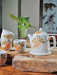 amore estivo a mano stampato ad alta temperatura del tè in porcellana di piatto (500ml) e la tazza (150ml ciascuna)