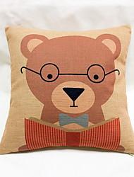 1 pcs Linen Pillow Case Body Pillow Travel Pillow Sofa Cushion Novelty Pillow,Animal Print Graphic PrintsAccent/Decorative Outdoor
