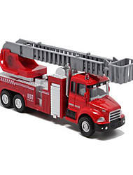 cheap -Die-Cast Vehicles Pull Back Vehicles Toy Cars Fire Engine Vehicle Toys Metal Alloy Plastic Metal Pieces Children's Gift