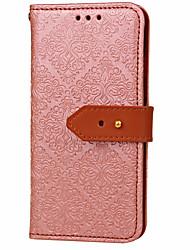 economico -Custodia Per Samsung Galaxy A5(2017) A3(2017) A portafoglio Porta-carte di credito Con supporto Con chiusura magnetica Decorazioni in