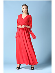Le nouvel afflux de graisse mm en mousseline de soie jupe de plage robe de plage robe d'été rouge grands chantiers