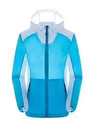 Women's Hiking Jacket Thermal / Warm Quick Dry Windproof Ultraviolet Resistant Breathable Top for Camping / Hiking Spring Summer