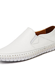 Men's Shoes Nappa Leather Spring Summer Fall Comfort Driving Shoes Loafers & Slip-Ons Walking Shoes Split Joint For Casual Office & Career