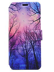 cheap -For Samsung Galaxy S8 Plus S8 Case Cover Tree Pattern HD Painted Voltage TPU Process PU Skin Phone Case