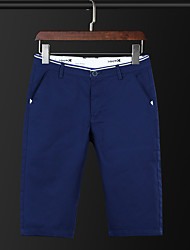 Men's Low Rise Micro-elastic Chinos Shorts Pants,Simple Street chic Active Straight Slim Solid