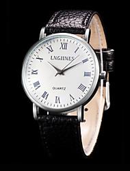 abordables -Hombre Reloj de Moda Reloj de Pulsera Reloj Deportivo Reloj de Vestir Chino Cuarzo Cuero Auténtico Banda Encanto Creativo Casual