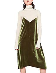 143 commerce extérieur européen et américain za swan velours net épissage épissure rétro veste verte harnais robe nouveau printemps