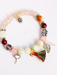 Per donna Bambine´ Bracciali a catena e maglie Bracciali con ciondoli Braccialetti del filo Ametista Perle finte StrassNatura Amicizia Di