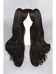 Long Wave Brown Fate stay night -Tohsaka Rin Synthetic 28inch Anime Cosplay Ponytails WigCS-216A