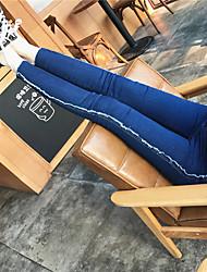 firmare invincibile era sottile dei jeans della matita di lana pantaloni frangia collant vento college sel