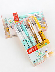 12 PCS Gel Pen Pen Gel Pens PenPlastic Barrel Blue Ink Colors For School Supplies Office Supplies