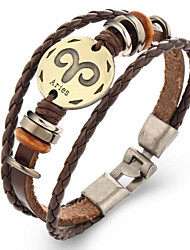 cheap -Men's Women's Leather Bracelet Vintage Costume Jewelry Leather Geometric Jewelry For Gift