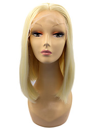 cheap -Synthetic Hair Wigs Straight Middle Part Bob Bob Haircut Lace Front Carnival Wig Halloween Wig Natural Wigs Short Blonde