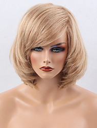 Hot sale Ripe Partial Fringe Medium Long  Hair Human Hair Wig Suitable For All Kinds Of People