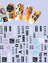 1pcs Fashion Nail DIY Beauty Nail Art 3D Stickers Creative Alphabet Personality Design Charming Decoration F173