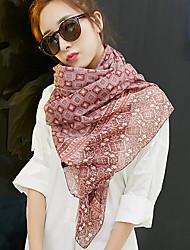 Bohemia  Bbeach Tourism 2017 Cotton Rose Scarf Shawl Thin Long Rectangle Print Women's