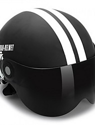 meia cara óculos de óculos de capacete de motocicleta óculos de proteção flexível abs motocicleta de rua cor preto fosco