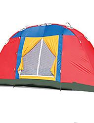 baratos -8 pessoas Tenda Único Barraca de acampamento Dois Quartos Ao ar livre Tenda Dobrada Prova-de-Água / Á Prova-de-Chuva / Á Prova de Humidade