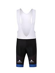 economico -Per uomo Salopette da ciclismo Bicicletta Salopette / Pantaloni Pad 3D, Compressione Poliestere Bianco / Nero Abbigliamento ciclismo