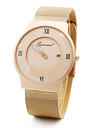 cheap -Women's Quartz Wrist Watch Hot Sale Stainless Steel Band Charm Fashion Black Silver Gold Rose Gold