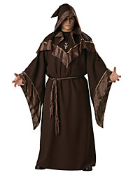 cheap -Wizard Cosplay Costume Men's Halloween Carnival Festival / Holiday Halloween Costumes Dark Brown Fashion