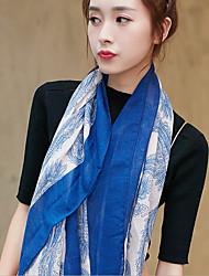 2017 Korea Cotton Linen Scarf Silk Scarves Shawl Thin Long Rectangle Print Women's