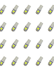 cheap -20Pcs T10 5*5050 SMD LED Car Light Bulb White Light DC12V