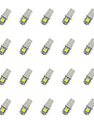 20pcs t10 5 * 5050 smd ha condotto la luce bianca dc12v della lampadina dell'automobile