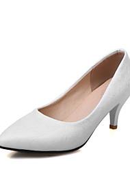 Women's Heels Spring Summer Formal Shoes Leatherette Office & Career Dress Casual Kitten Heel Blushing Pink Red Purple White